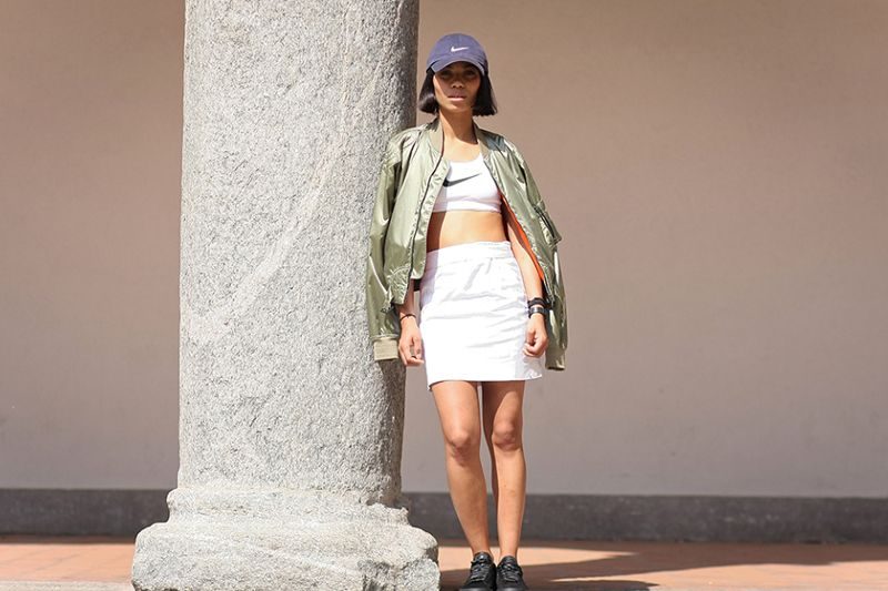 Street Style: Irma Papini in Belstaff, Nike and COMME des GARCONS