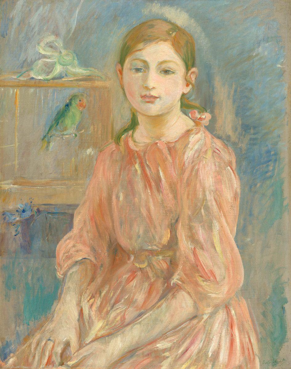 Berthe Morisot - La fille de l'artiste avec une perruche 1890 | Peintures  impressionnistes, Peintre, Impressionnisme