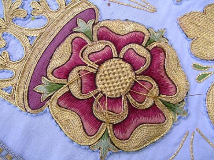 Church vestment - goldwork detail repair - RSN Studio