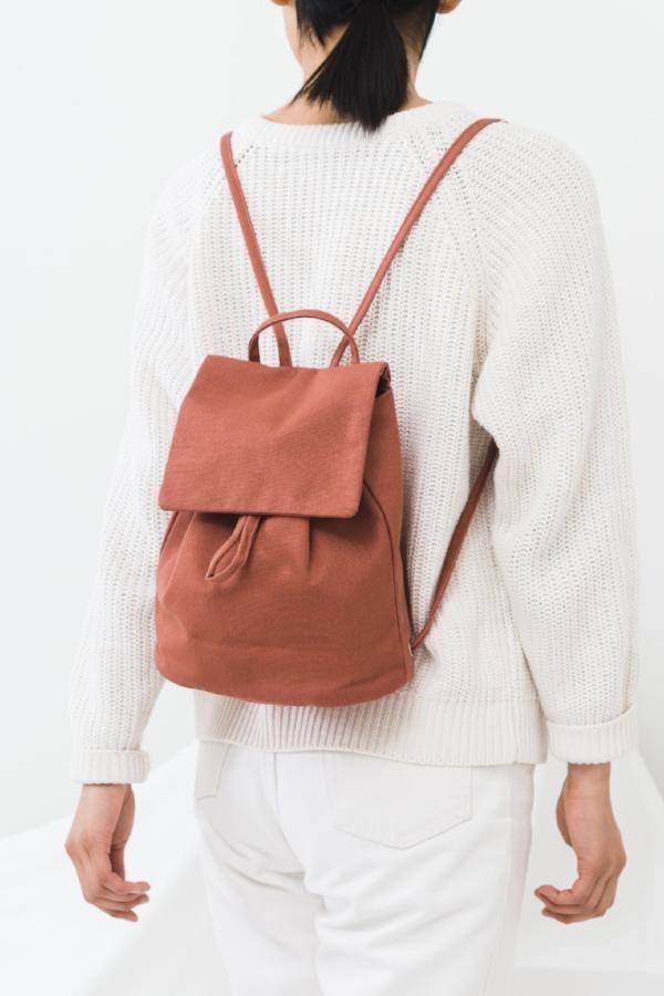 8aa8e4ce7 BAGGU Canvas Mini Backpack / Terracotta // #affiliatelink #ad #affiliate
