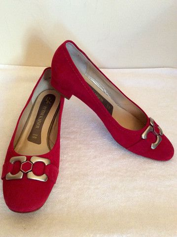 3460c0fa263 PETER KAISER RED SUEDE COURT SHOES SIZE 6 39 - Whispers Dress Agency -  Womens