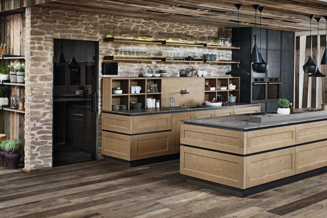 fm kuechen nordkamm bergeiche eisen grifflos mit natur eiche k che pinterest eiche k che. Black Bedroom Furniture Sets. Home Design Ideas