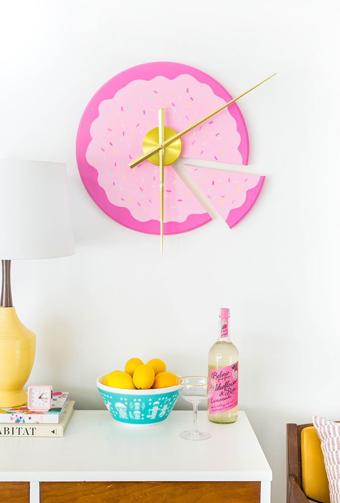 Diy Sliced Cake Wall Clock Post En 2018 Pinterest Horloge
