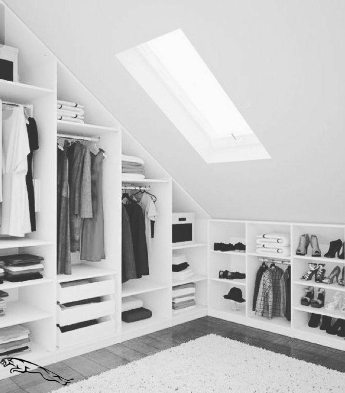 Graue Farben Einrichtung Begehbarer Kleiderschrank Ikea Pax