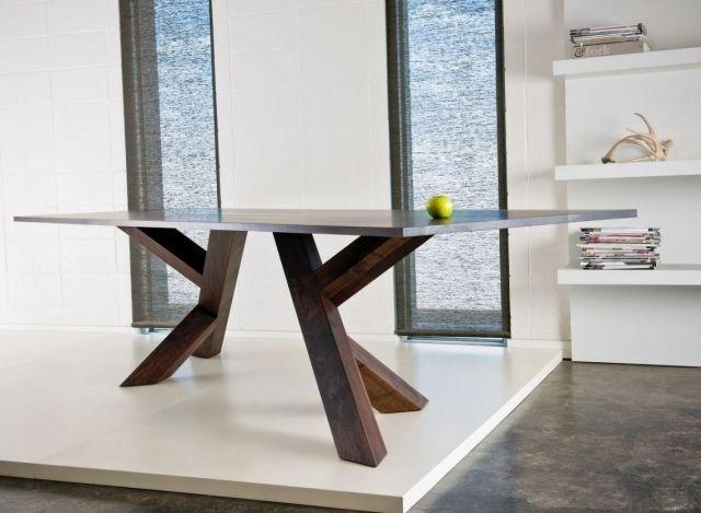 pied de table metal - Pied De Table En Bois Massif