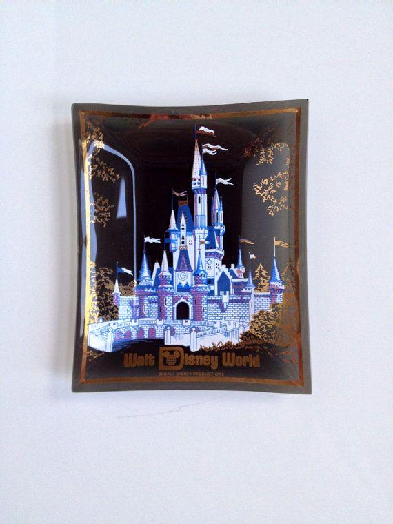 Vintage Disneyland Souvenir Ashtray  Disney Memorabilia  Disney Trinkey Tray