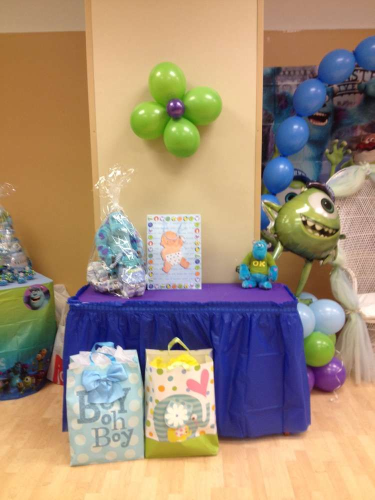Monsters Inc Baby Shower Party Ideas Baby Shower Parties Shower