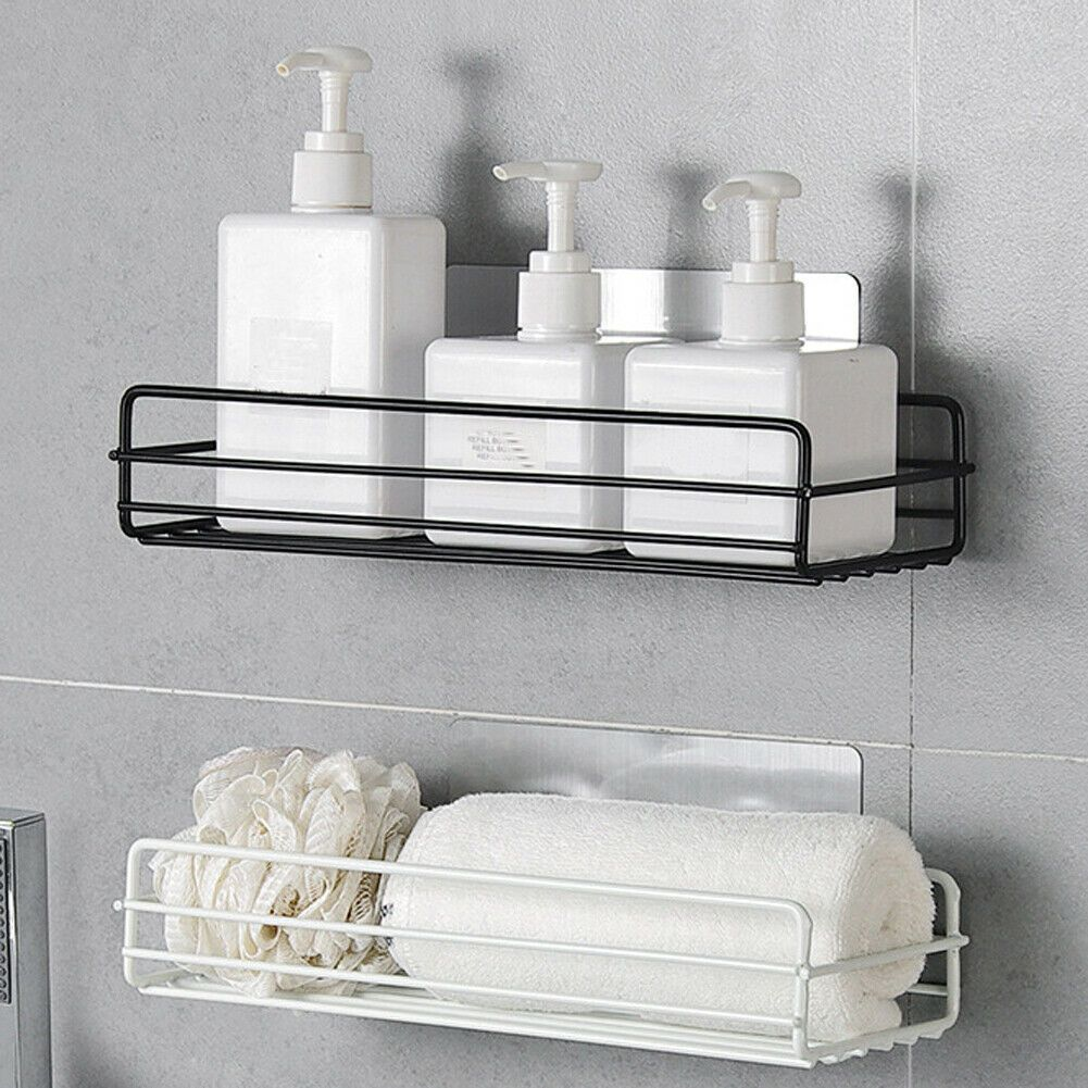 Kitchen Bathroom Shower Caddy Shelf Corner Wall Mount Storage Rack Organizer New 10 99 Cool Bathroom Storage In 2020 Shower Shelves Bathroom Baskets Shower Wall