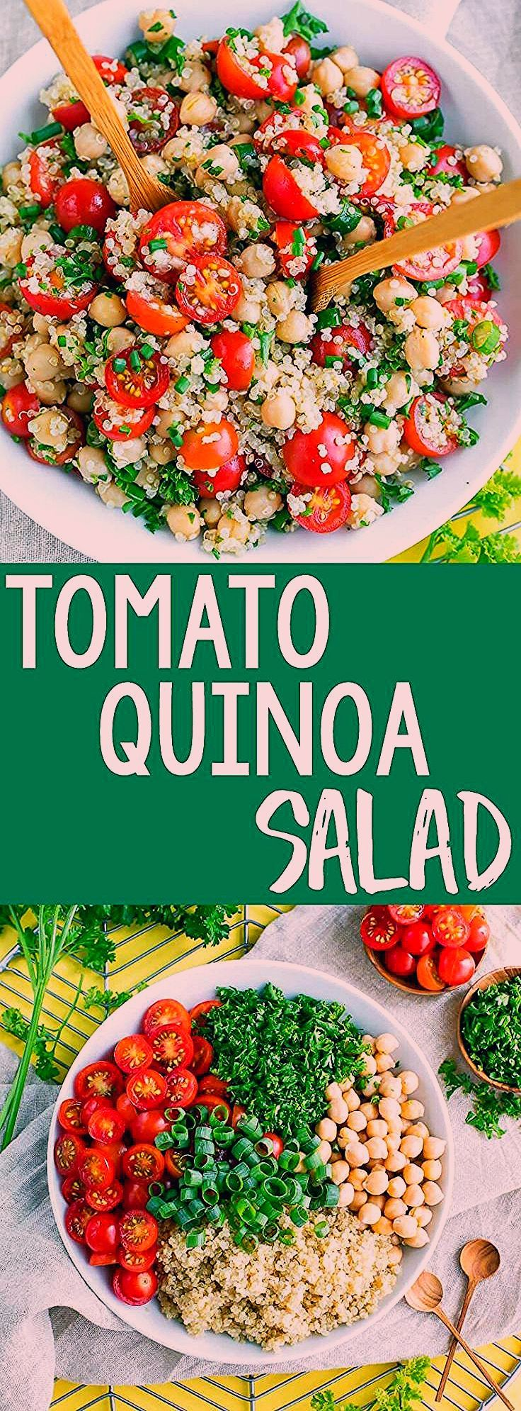 It's time to add another tasty quinoa recipe to our meal prep game! This Tomato Quinoa Salad is fas