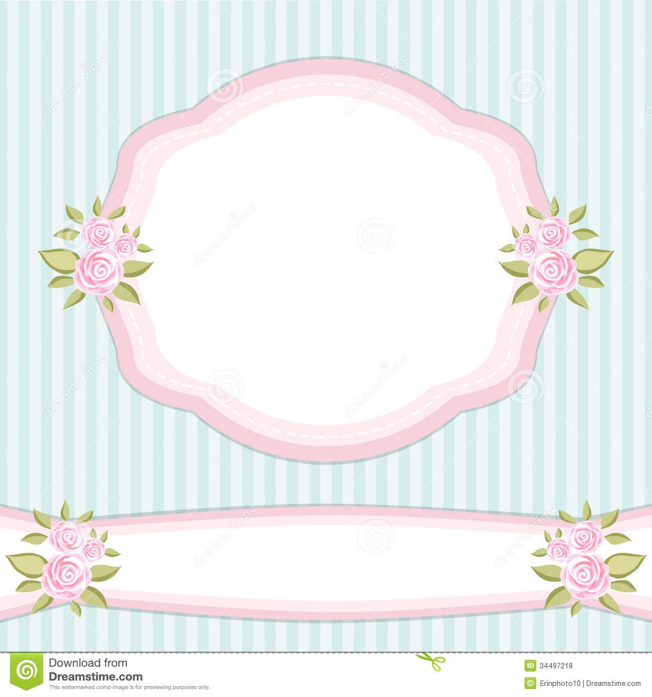 Shabby Chic Wallpaper Border Vintage Fl Frame With Roses In Style