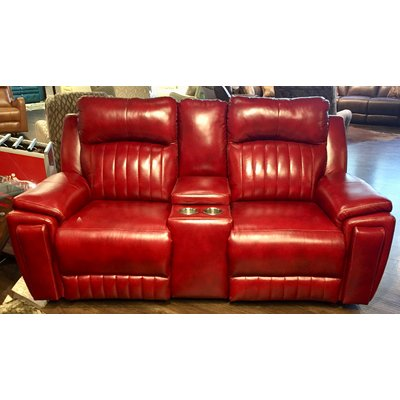 Southern Motion Silver Screen Leather Reclining Loveseat W Console Body Fabric Eastwood Chaps Reclining In 2020 Southern Motion Leather Reclining Loveseat Love Seat
