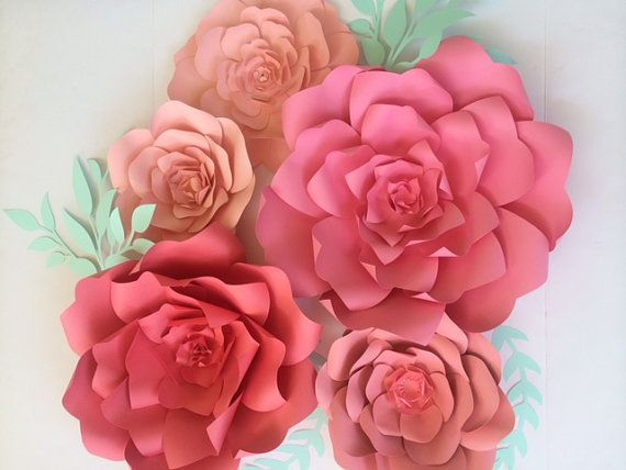 Paper flower backdrop coral large paper flower backdrop giant paper flower backdrop coral large paper flower by paperflora mightylinksfo