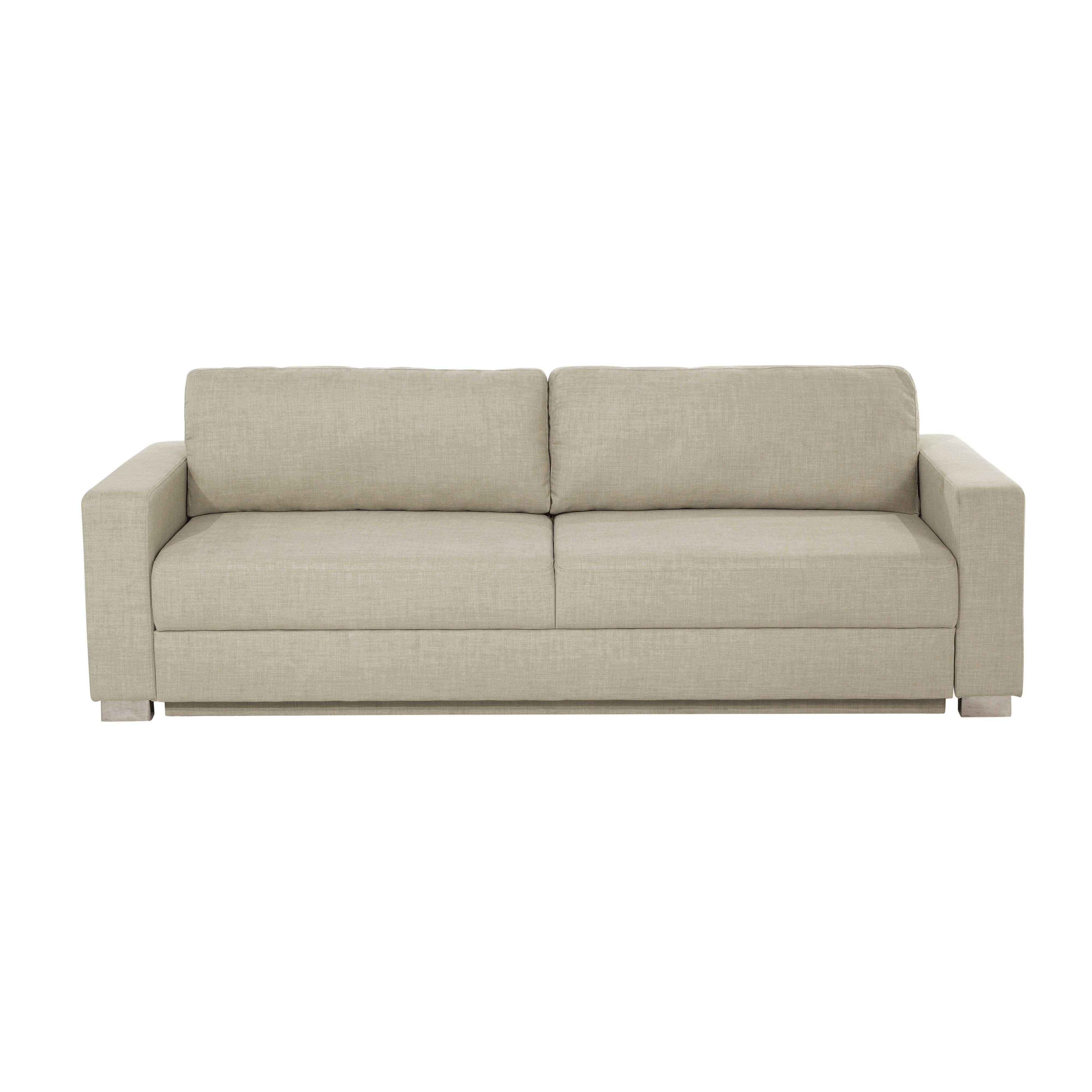 Canape Convertible 3 Places En Tissu Beige Urban Convertible Sofa Beige Convertible