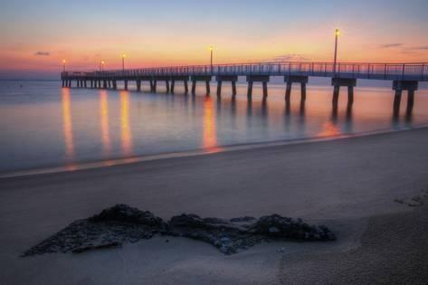 Woodland Beach Fishing Pier Dawnby Michaelmill Products