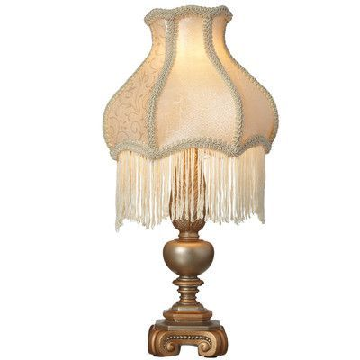 River of goods downton abbey 15 75 h fringe accent table lamp with bell shade