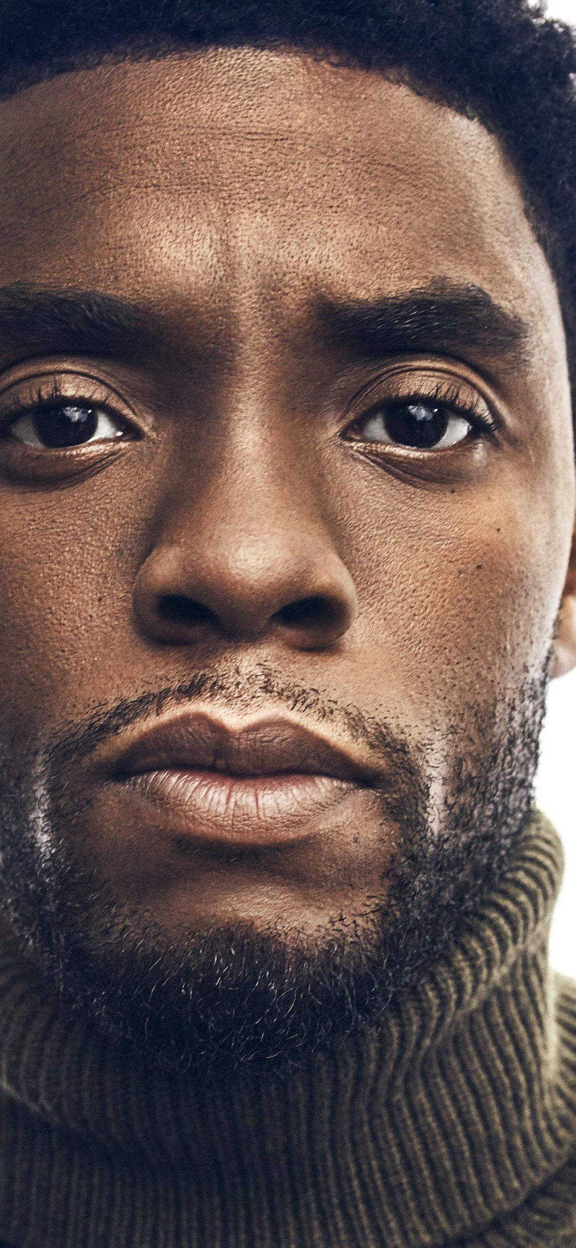 Download Iphone X Chadwick Boseman Close Up Black Panther Hd Wallpaper Movies Wallpaper F Black Panther Chadwick Boseman Chadwick Boseman Black Panther