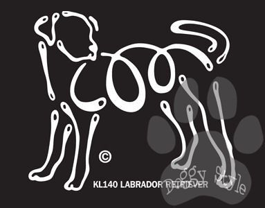 K Lines Labrador Retriever Window Tattoo Decal http://doggystylegifts.com/products/k-lines-labrador-retriever-window-tattoo-decal