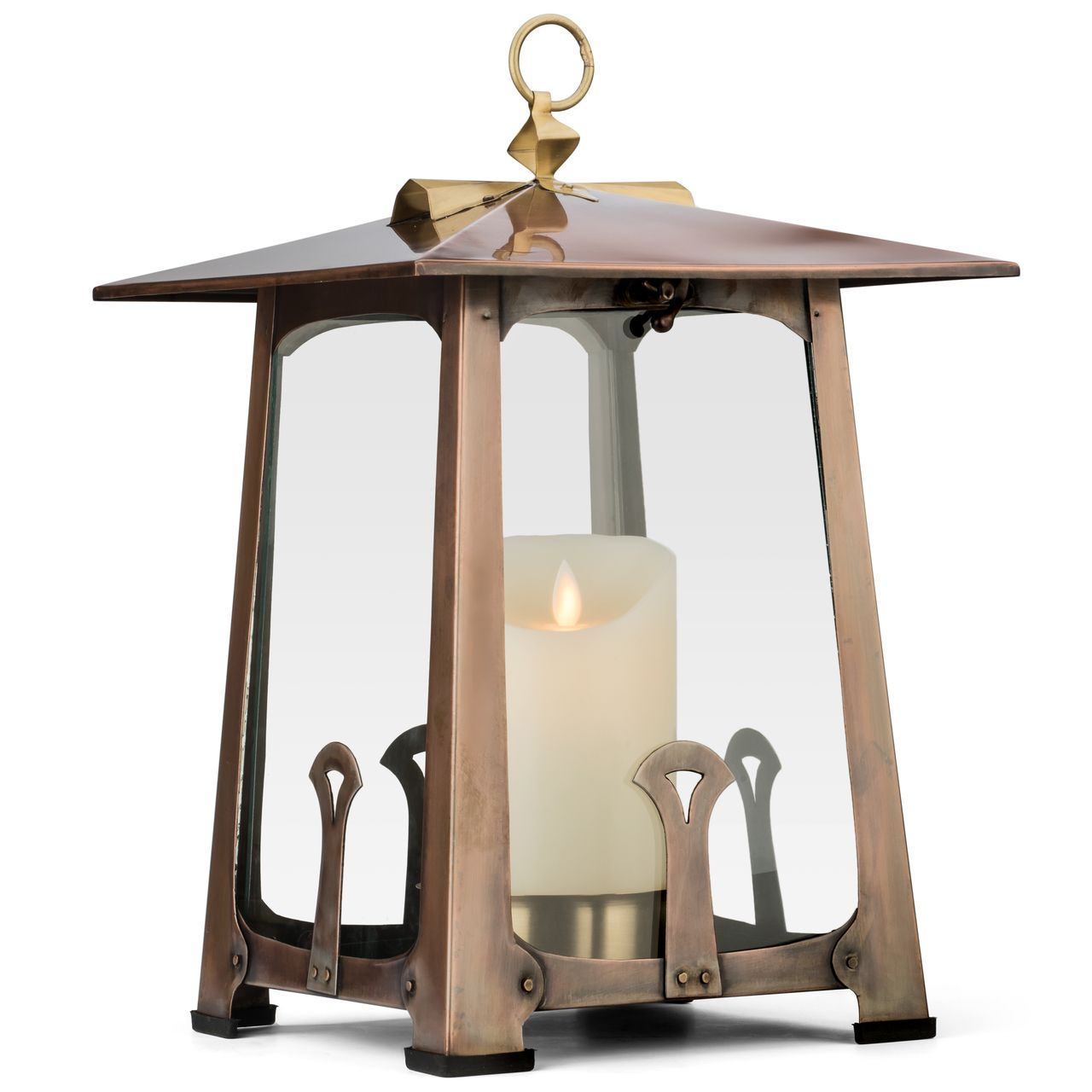 H Potter Craftsman Candle Lantern Decorative Table Top Indoor Outdoor Patio  Candle Holder Large   H POTTER