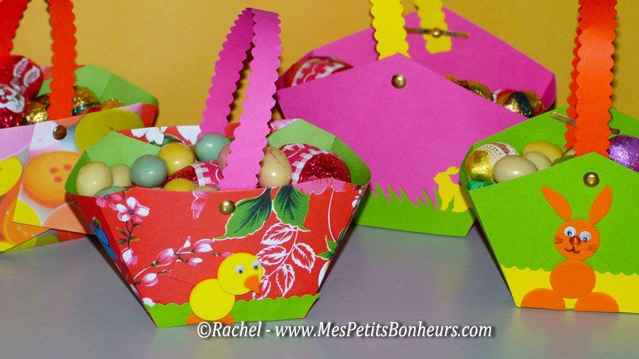Bricolage petit panier en papier fabriquer pour les for Petit bricolage facile