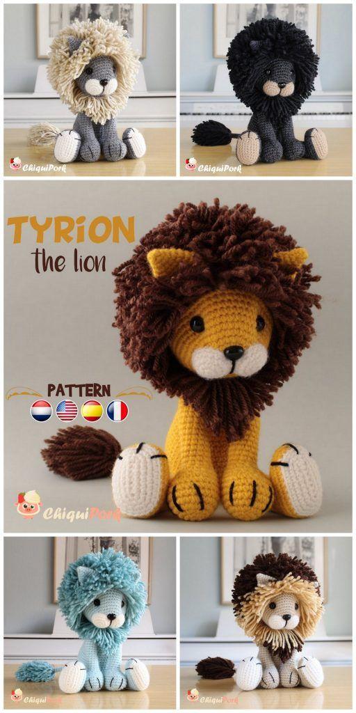 Amigurumi Lion Crochet Free Patterns - Amigurumi #freeamigurumipatterns
