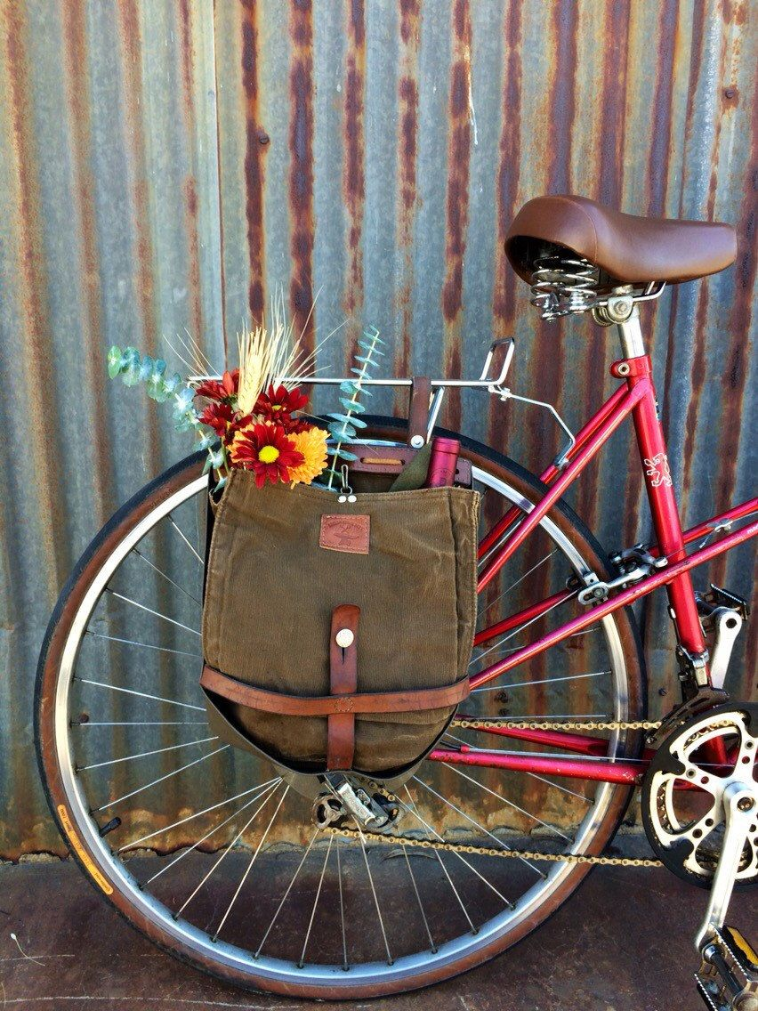 bicycle panniers made from vintage swiss army bread bags. Black Bedroom Furniture Sets. Home Design Ideas