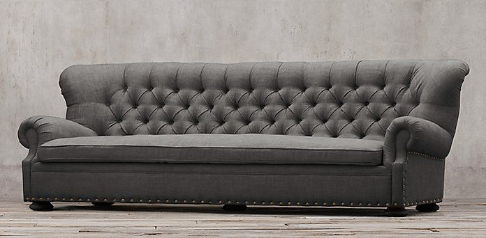 Restoration Hardware Churchill Comfy Feather Cushions Curved Back