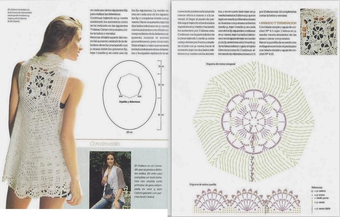 Chaleco ovalado con dibujo de una pieza - Patrones Crochet | YO Baby ...