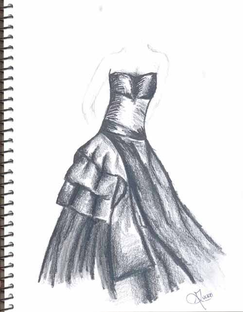 ball gown sketches - Google Search | Fashion Sketches And Looks ...