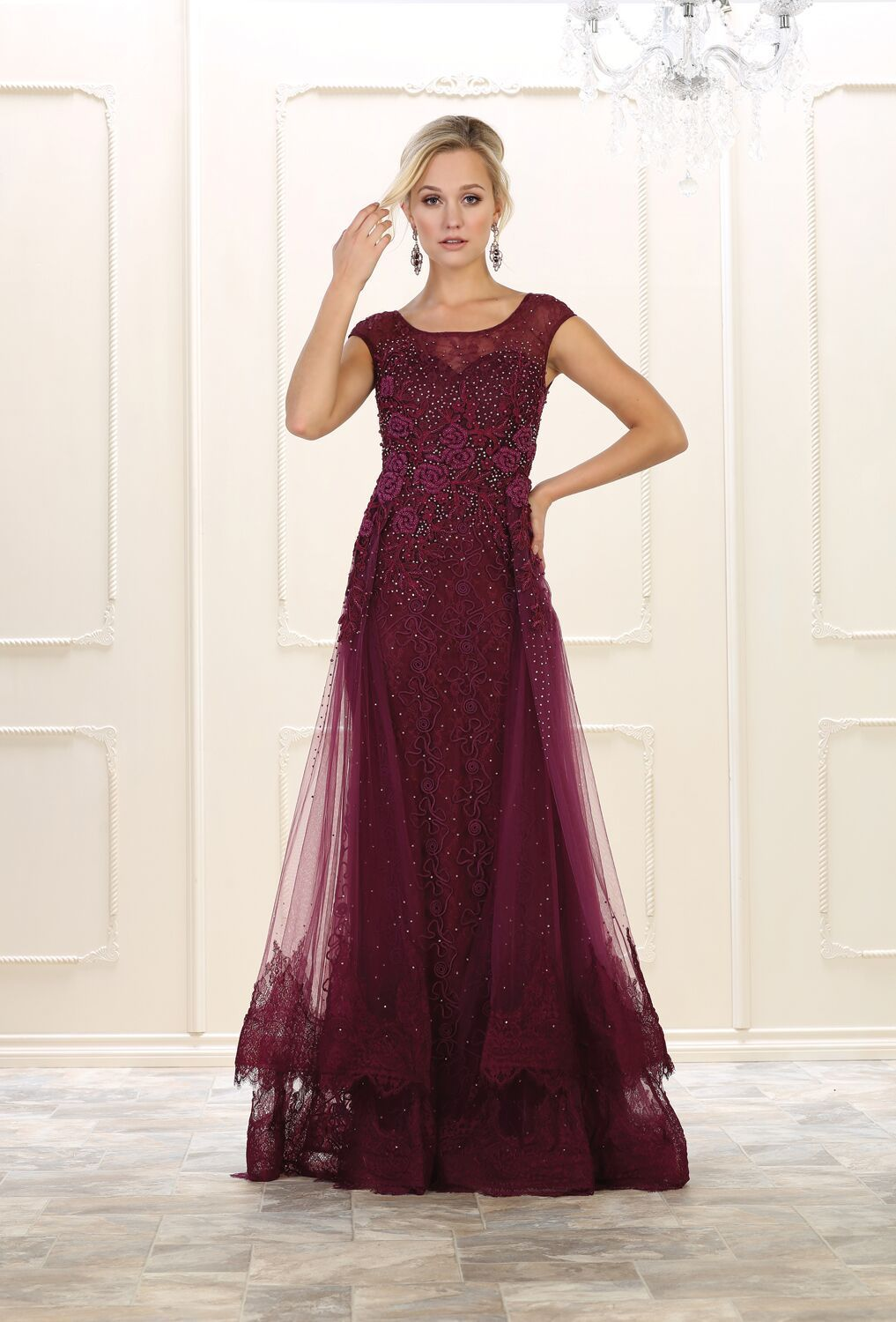 Long beaded plus size prom dress evening gown pinterest tulle