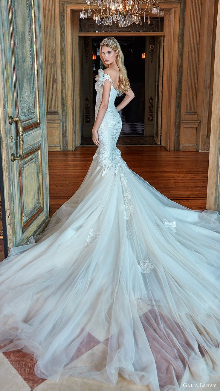 galia lahav bridal spring 2017 off shoulder sweetheart mermaid fit ...