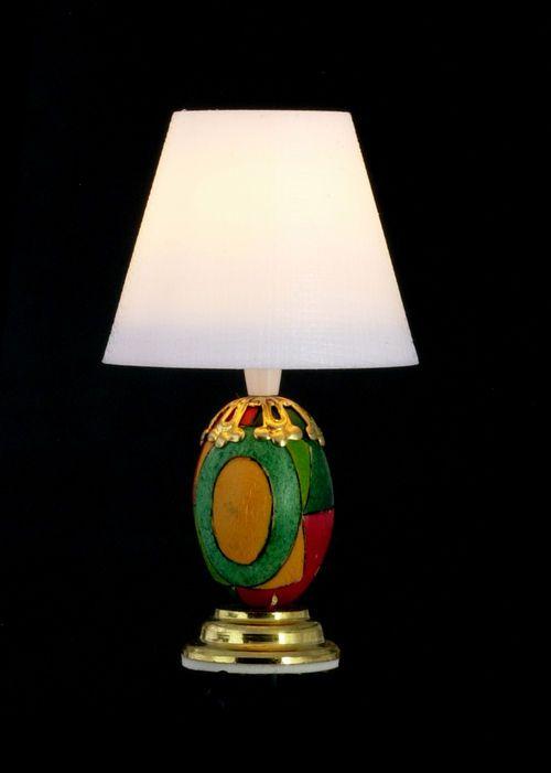 Dollhouse Miniature Pop Art Base Table Lamp 12 Volt T8580 Townsquarelightinglamps Lamp Art Base Dollhouse Lighting