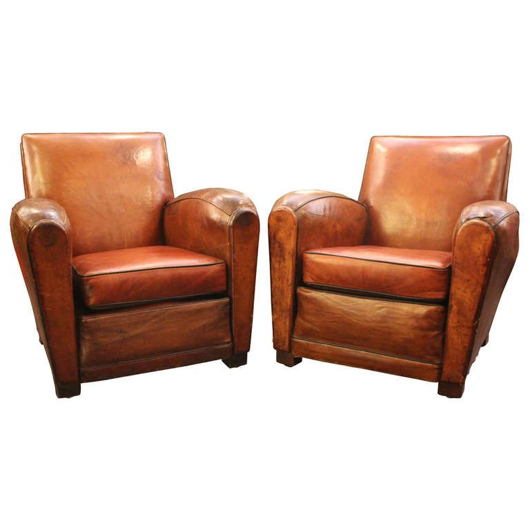 Pair Of French Art Deco Club Chairs French Art Art Deco And