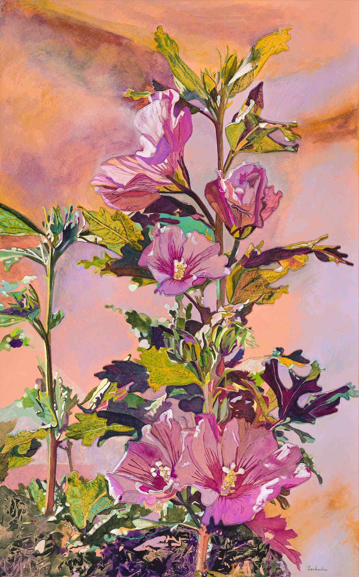 Rose Of Sharon Ink Pinterest Paintings