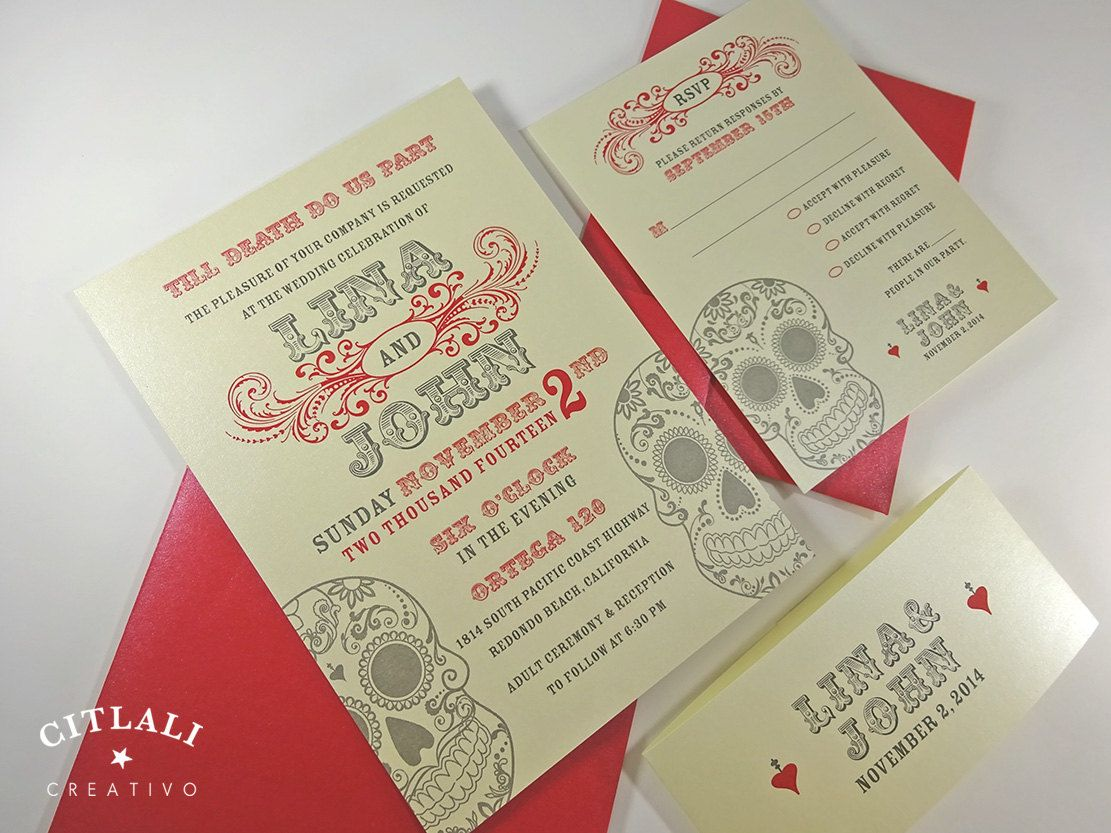 Nice Day Of The Dead Wedding Invitations Pictures Dia De Los