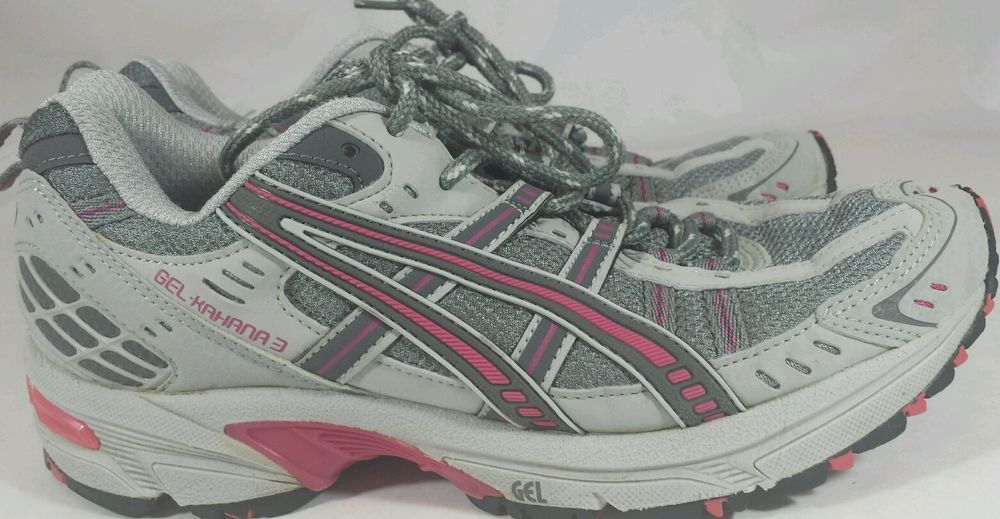 ASICS Gel-Kahana 3 Women Shoes Trail / Running Gray & Pink T980N Size 8.5  NICE
