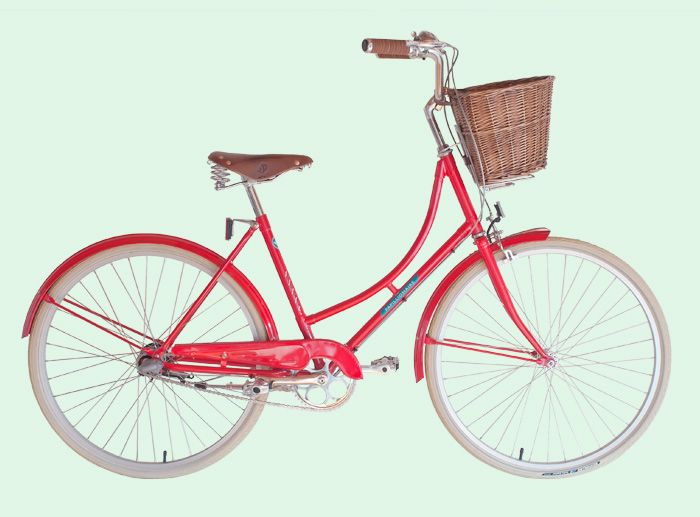 Shiny Red Bike With Basket From Papillionaire Red Bike Bicycle Vintage Bicycles