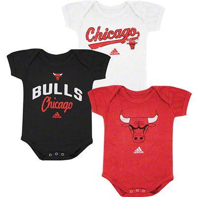 wholesale dealer 14bff 654d5 Chicago Bulls Newborn Baby adidas 3-Pack Onesie Set $29.99 ...