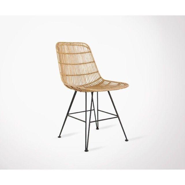 Puico - Chaise Design En Rotin - Taille : Taille Unique ...