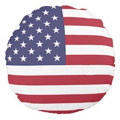 Round Throw Pillow With Flag Of USA Elegant Styles Pinterest Simple Ashford Court Decorative Pillows