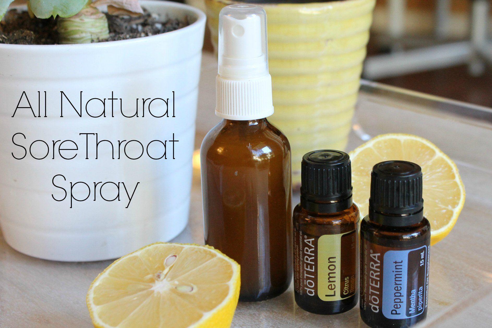All natural sore throat spray peppermint spray throat