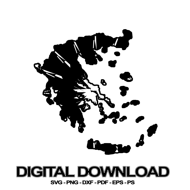 Greece Map Mandala SVG November Collection Digital