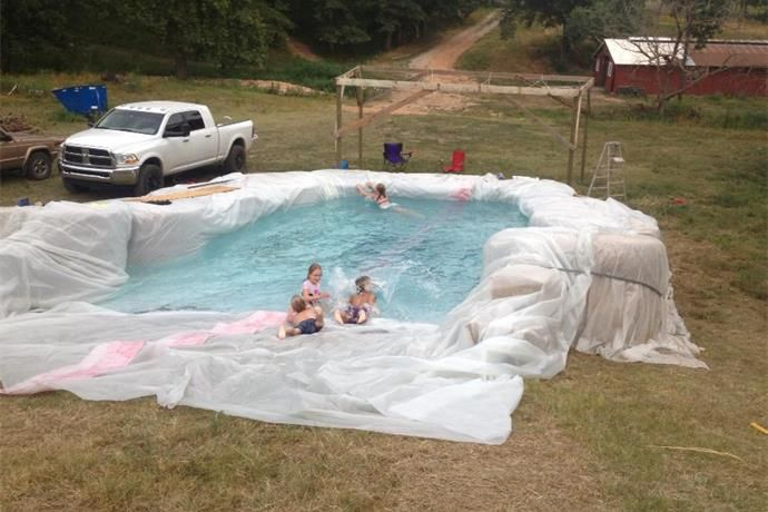 Hay Bale Pool The Next Robinson Road Project Diy Swimming Pool