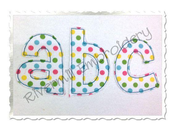 small cheri raggy applique machine embroidery font alphabet 4