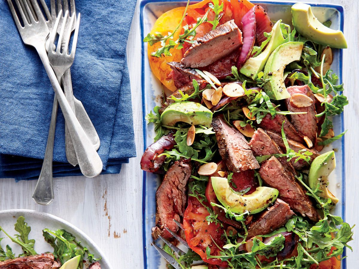 California Steak Salad Hearty Satisfying And Delicious These Amazing Salad Recipes Bump Your Avera Steak Salad Recipe Dinner Salads Leftover Steak Recipes