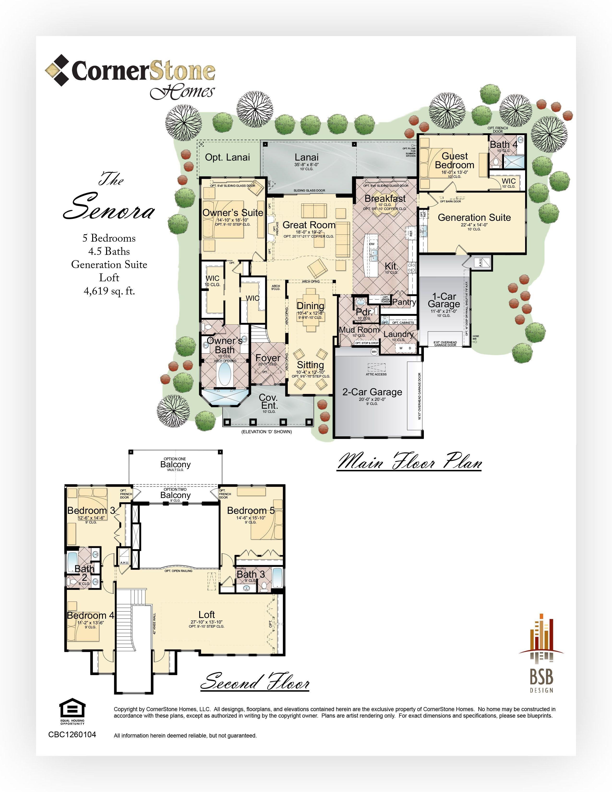 Floor Plan Senora Cornerstone Homes Floor Plans House Floor Plans Home Design Plans