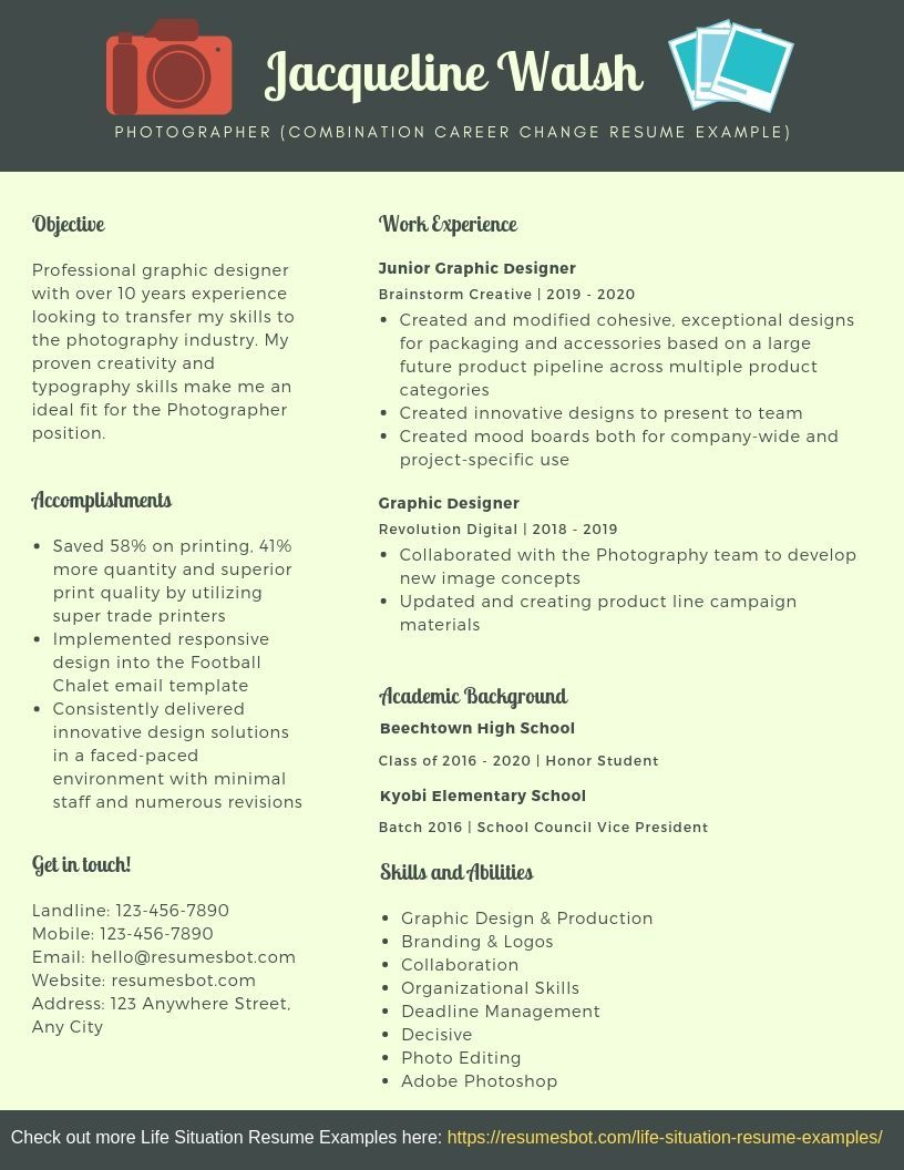 Combination Career Change Resume Samples & Templates [PDF