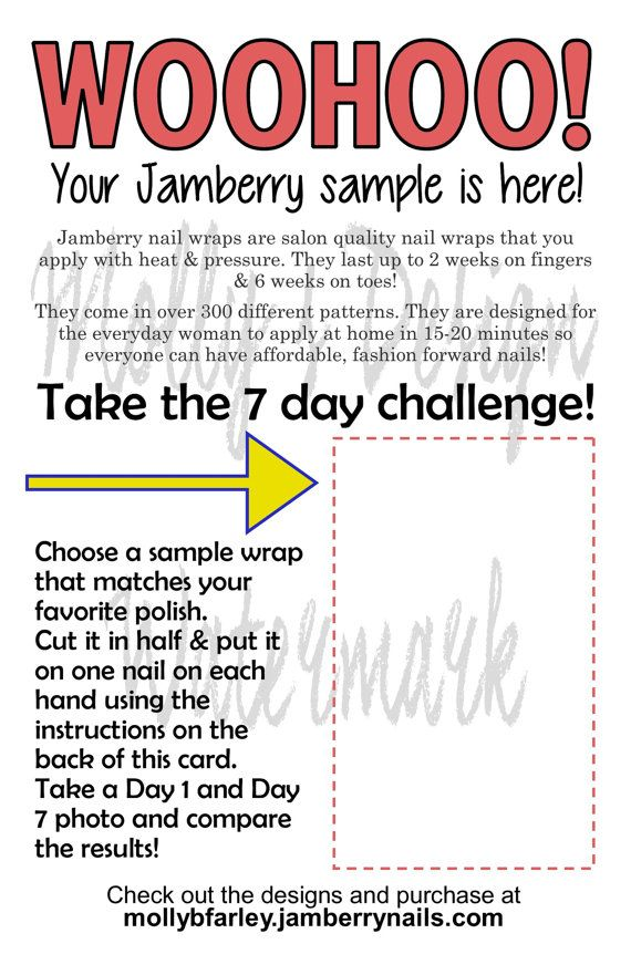 Jamberry Sample Sheets For Consultants To Mail Out Samples With A