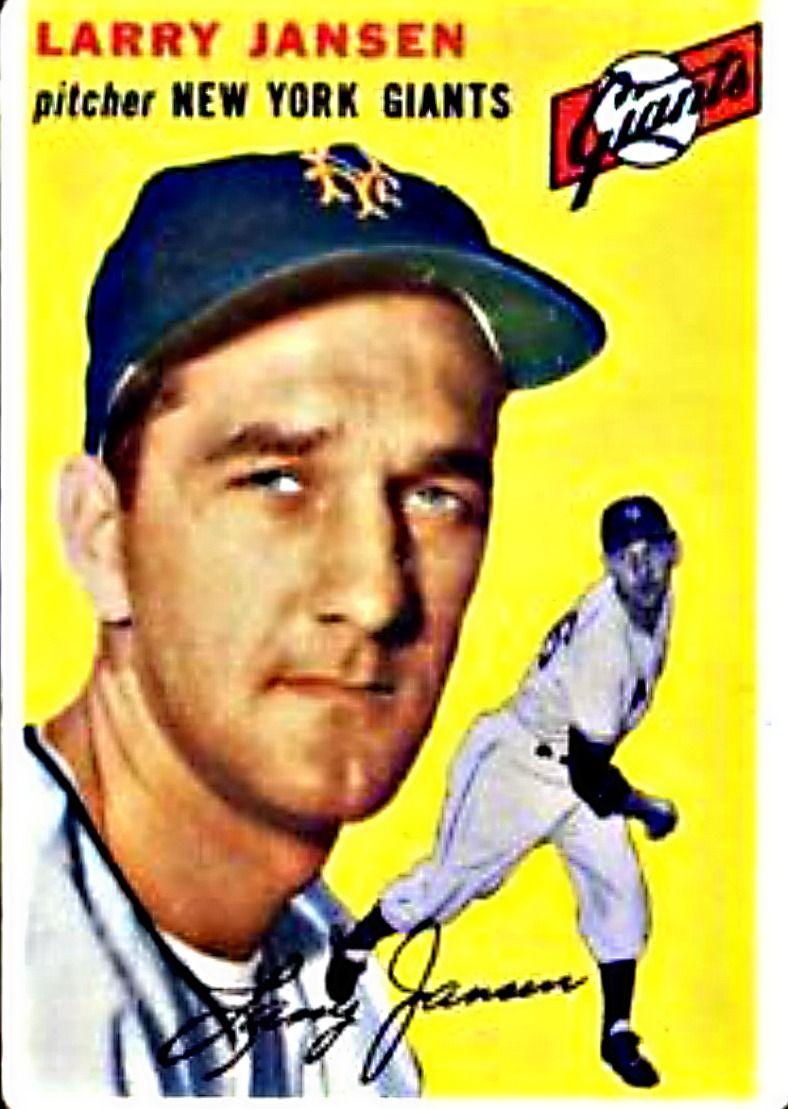 200 Larry Jansen New York Giants Baseball cards