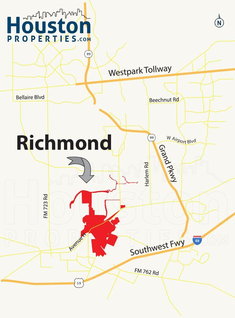 Richmond Tx Map Richmond TX Map | Great Maps Of Houston | Richmond homes, Richmond