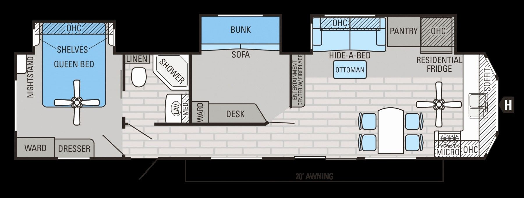 Pin by Mariana P on RV Travel trailer floor plans